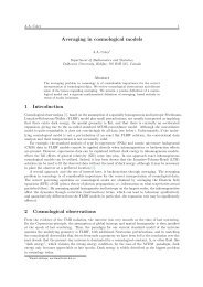 Averaging in cosmological models 1 Introduction 2 Cosmological ...