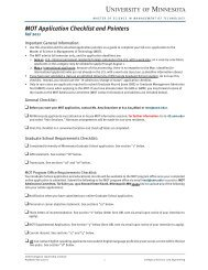 MOT Application Checklist and Pointers - Technological Leadership ...