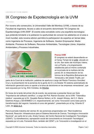 IX Congreso de Expotecnología en la UVM - Noticias - Universia ...