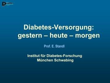 Diabetes-Versorgung: gestern – heute – morgen - GlaxoSmithKline