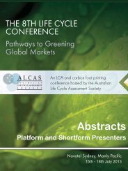 Abstracts - ALCAS Conference - Australian Life Cycle Assessment ...