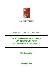 piano di governo del territorio valutazione ambientale strategica
