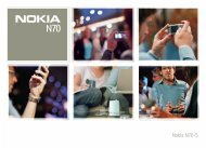 Nokia N70 Manual del Usuario