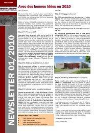 newsletter 01_2010 FR - Marco Zenner