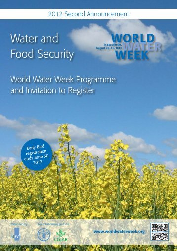 Water and Food Security - World Water Week