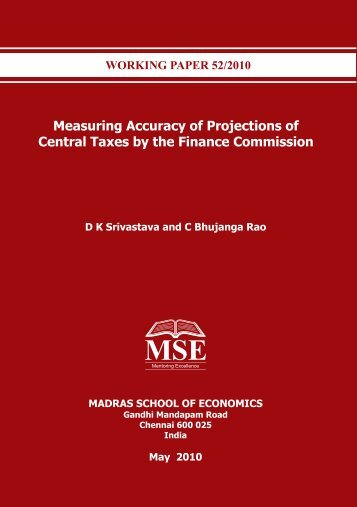 Accounting for India's Forest Wealth - Madras School of Economics