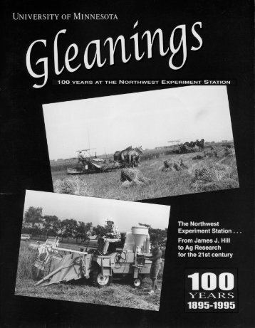Gleanings - to files - University of Minnesota