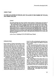 Andres Tvauri ON THE LOCATIONS OF FIELDS AND VILLAGES IN ...