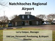 Natchitoches Regional Airport - City of Natchitoches