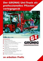 Der GRÜNIG Uni-Truck als professionelles Pflaster