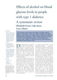 Effects of alcohol on blood glucose levels in people with type 1 ...