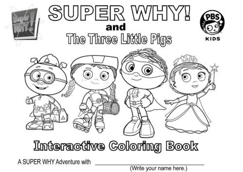 - Super Why And The Three Little Pigs Interactive Coloring Book