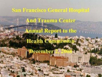 2007-08 Annual Report, slides - San Francisco Department of Public ...