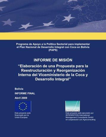 Elaboración de una Propuesta para la Reestructuración y