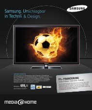 Samsung. Unschlagbar in Technik & Design. - media@home