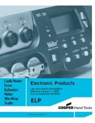 Electronic Products - Cooper Hand Tools