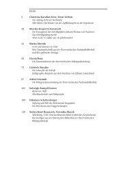 Inhalt Christina Karafiat-Seitz, Ernst Seibert Am Anfang steht der ...