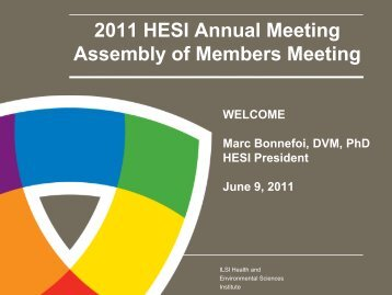 2011 HESI Annual Meeting Assembly of Members Meeting