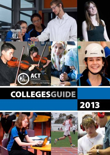 College guide 2013 - det - Education and Training Directorate - ACT ...