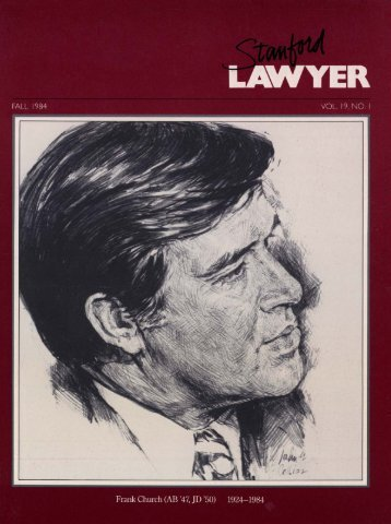 Fall 1984 – Issue 32 - Stanford Lawyer - Stanford University