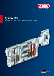 System Z14 Multiple paracentric profile with internal key ... - Abus