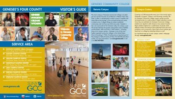 VISITOR'S GUIDE - Genesee Community College