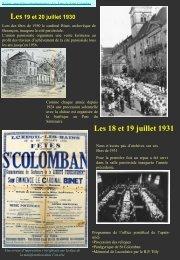 Les 18 et 19 juillet 1931 - L'association des Amis de Saint Colomban