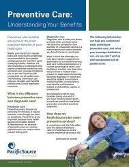 Preventive Care: Understanding Your Benefits - PacificSource