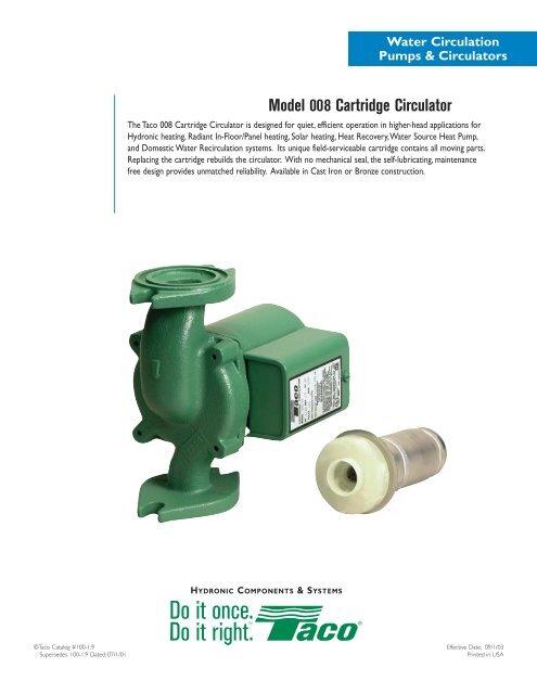 Model 008 Cartridge Circulator - Taco-Hvac