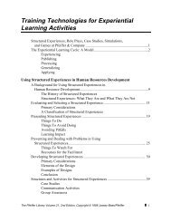 Training Technologies for Experiential Learning Activities