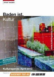 Kulturagenda April 2013 - Veranstaltungen - Stadt Baden
