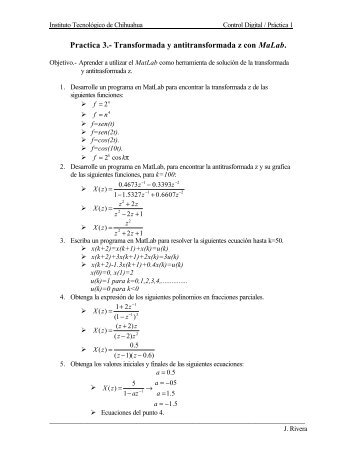 Practica 3.- Transformada y antitransformada z con MaLab.
