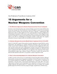 10 Arguments for a Nuclear Weapons Convention - International ...