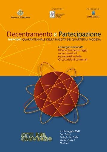 ATTI DEL CONVEGNO - Comune di Modena