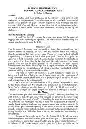BIBLICAL HERMENEUTICS - Chafer Theological Seminary
