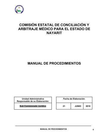 Reglamento de Procedimientos - Comisión Estatal de Conciliación y ...