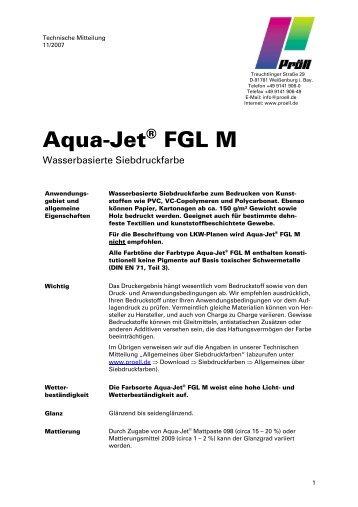 Aqua-Jet® FGL M -  Serilith Online Shop