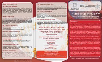Información e inscripciones: - Facultad de Ingenieria - Universidad ...