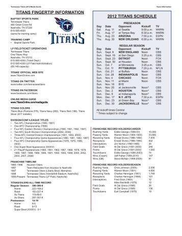 Fingertip Info/Staff Directory - NFL.com