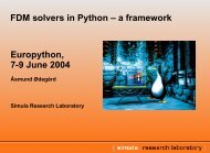 FDM solvers in Python - Simula Research Laboratory