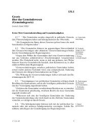 Gemeindegesetz - Gemeinde Hausen am Albis
