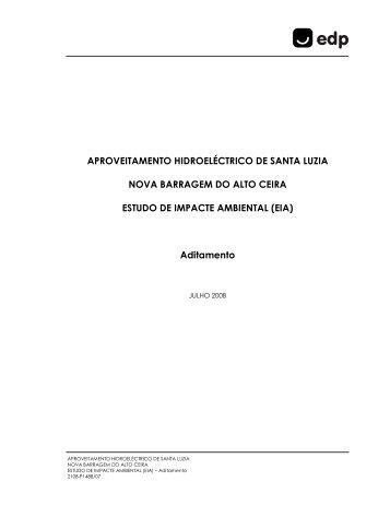 APROVEITAMENTO HIDROELÉCTRICO DE SANTA LUZIA ... - EDP
