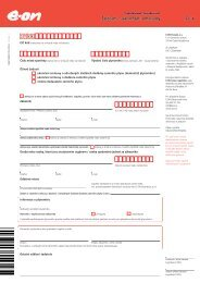 Žádost o ukončení smlouvy pro Podnikatelé / Domácnosti - E.ON
