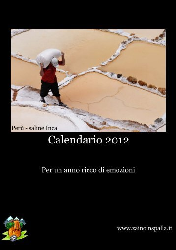 Calendario 2012 - ZainoinSpalla