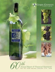 2008 Grape Growers Annual Report - Grape Growers of Ontario
