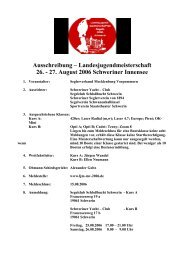 Ausschreibung – Landesjugendmeisterschaft 26. - 27. August 2006 ...