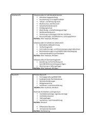 Detail-Übersicht über die von uns angebotenen Rechtsgebiete und ...
