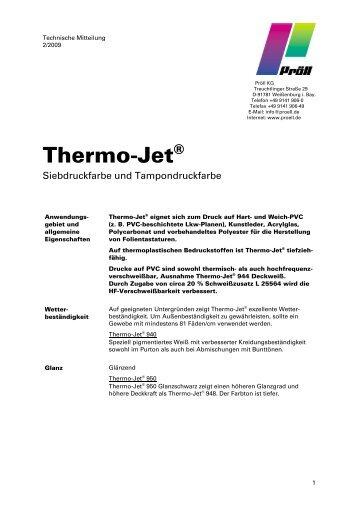 Thermo-Jet® - Pröll KG