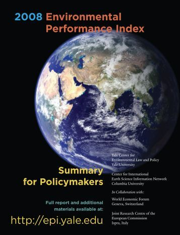 2008 EPI Policymaker Summary - Yale University