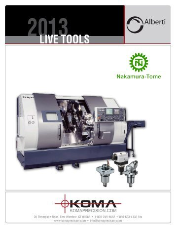Live Tools for Nakamura - Koma Precision, Inc.
